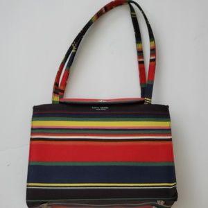Kate spade multi colored striped Canvas purse